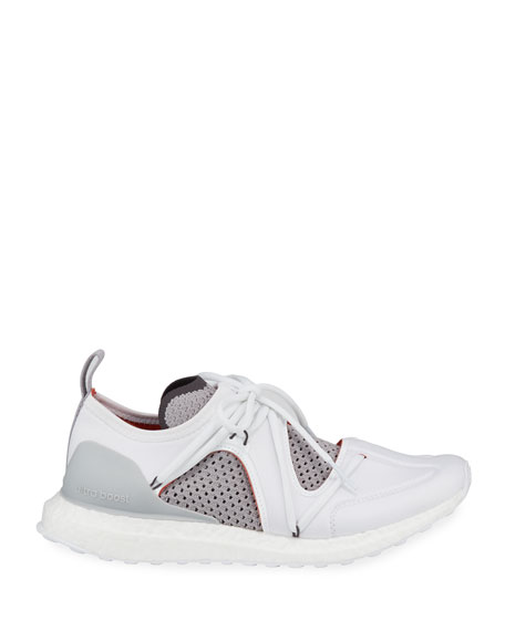 Ultraboost Lace-Up Neoprene Running Sneakers, White
