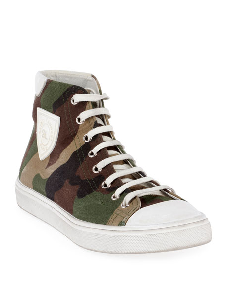 Bedford Patch High Top Sneakers by Saint Laurent