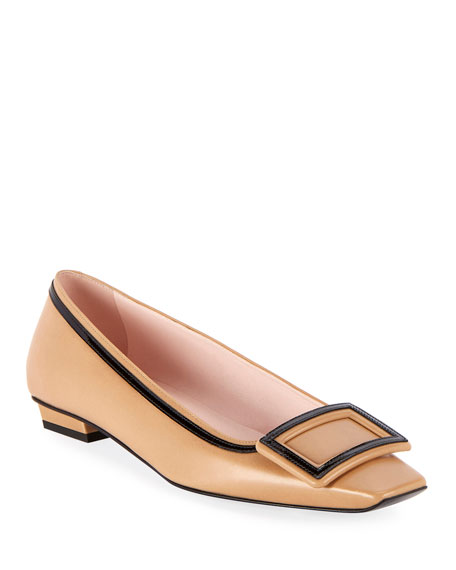 Image 1 of 1: Belle Two-Tone Pilgrim Ballet Flats