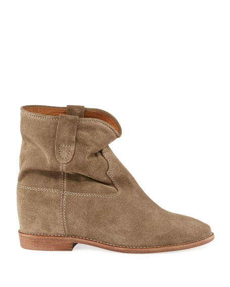 Crisi Western Suede Flat Booties