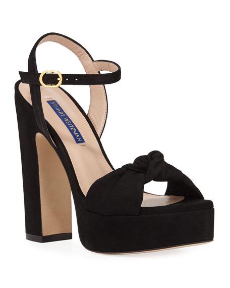 Mirri Suede Block-Heel Platform Sandals