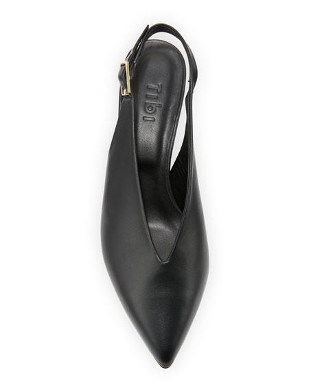 Lia Kitten-Heel Slingback Pumps, Black