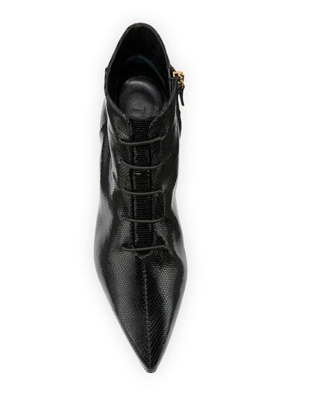 Joe Snake-Embossed Ankle Booties, Black