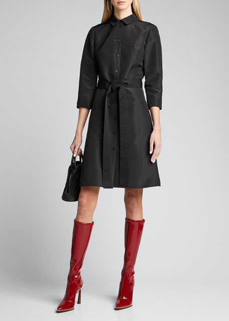 Neoprene To-The-Knee Boots, Black
