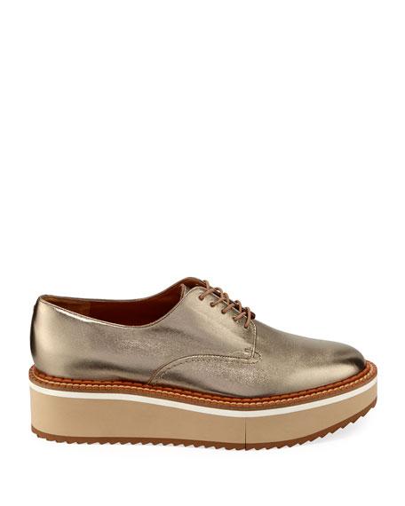 Berlin Metallic Platform Derby Shoes