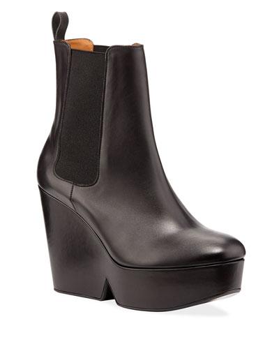 Beatrice Leather Platform Chelsea Booties