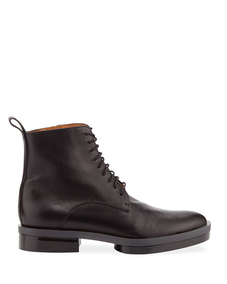 Radio Lace-Up Calf Leather Booties