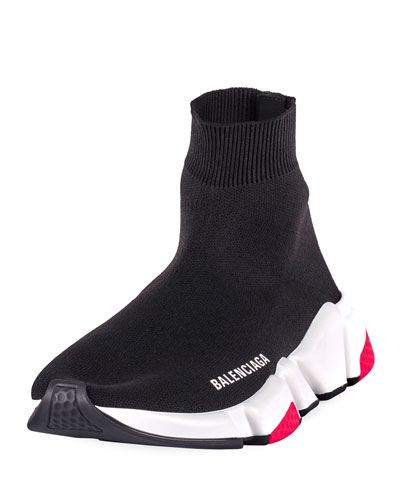 Speed High-Top Stretch Sock Sneakers