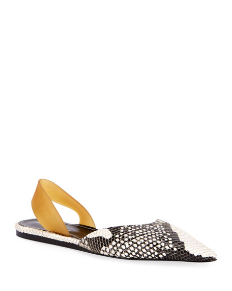 Image 1 of 1: Exotic-Embossed Ballet Flats