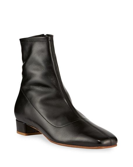 Este Zip Leather Booties