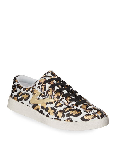 Nylite 34 Plus Metallic Animal-Print Sneakers