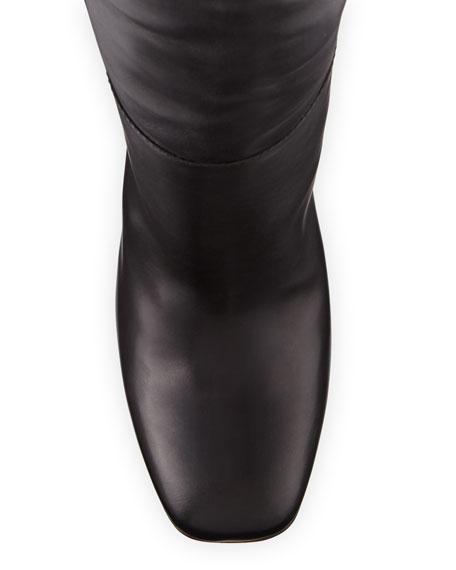 Matte Calf Tall Knee Boots