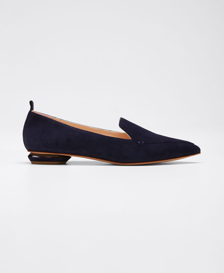 Image 1 of 1: Beya Flat Suede Loafers