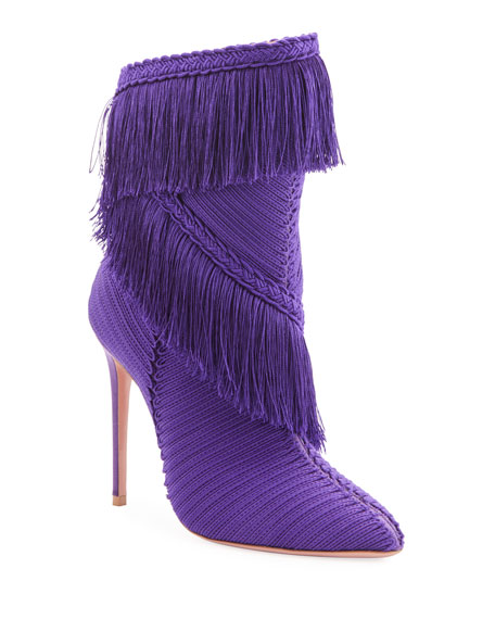 Image 1 of 1: Soutage Tassel Pointed Booties, Purple