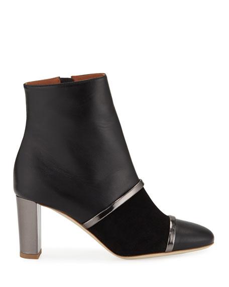 Dakota Leather and Suede Booties