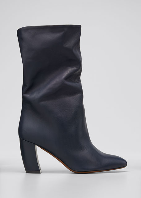 Ophrys Leather Tall Booties