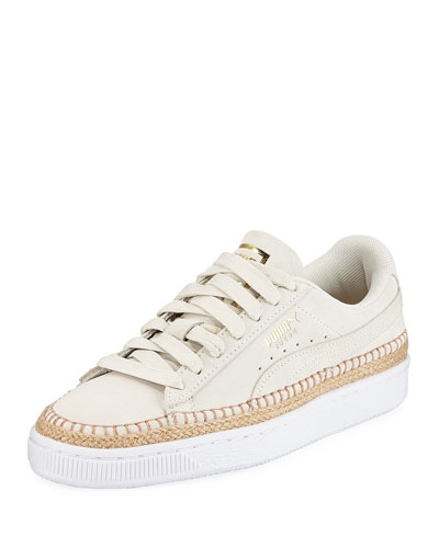 Sneakerdrille Low-Top Suede Espadrille Sneakers