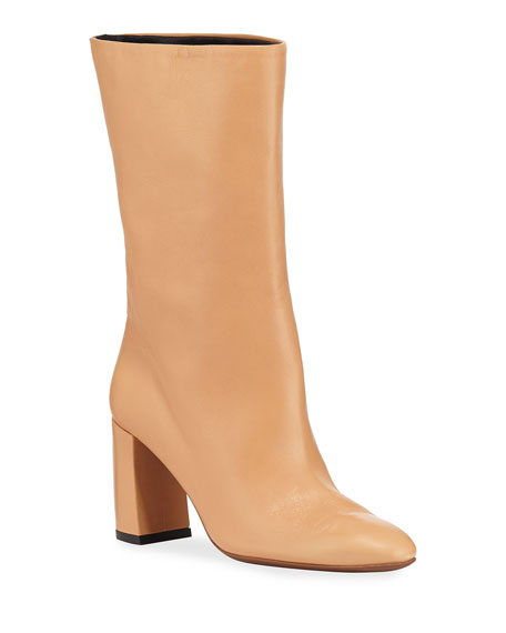 80mm Ophry Leather Boots