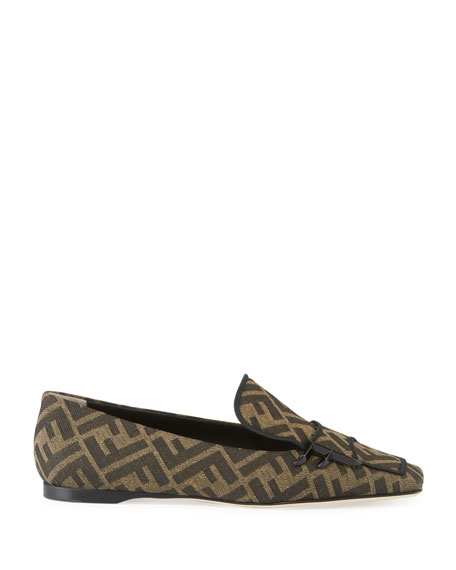 FF Logo Square-Toe Loafers
