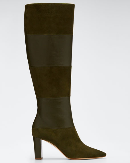 Valentina Suede & Leather Knee Boots