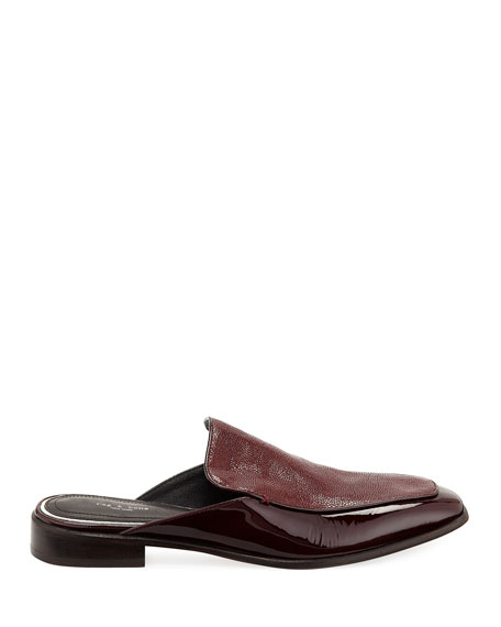 Aslen Flat Loafer Mules