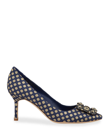 Hangisi Crystal-Buckle 70mm Pumps