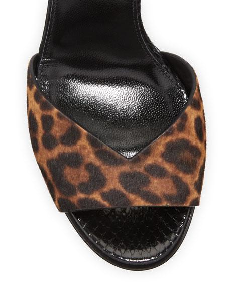 Tribute Platform Snake and Leopard Sandals