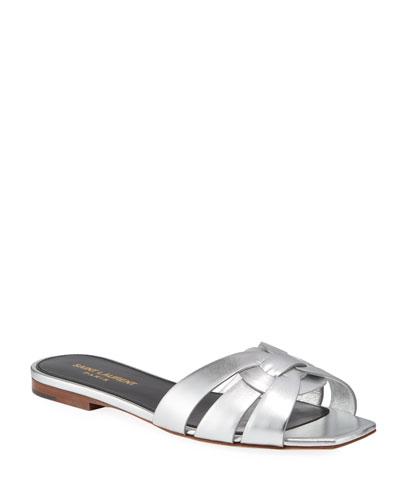 Nu Pied Metallic Flat Sandals
