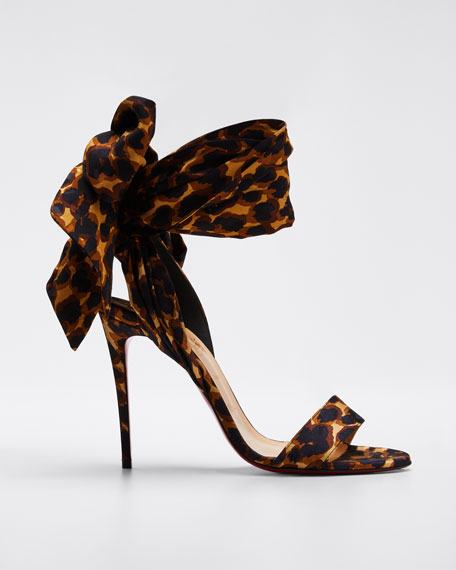 Sandale Du Desert Leopard Red Sole Sandals by Christian Louboutin