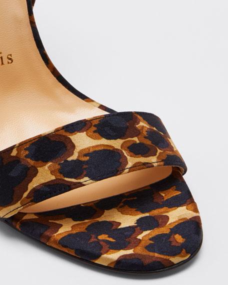 Sandale Du Desert Leopard Red Sole Sandals
