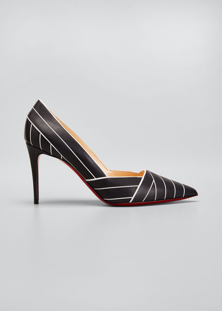 Undessin Art Deco Red Sole Stiletto Pumps