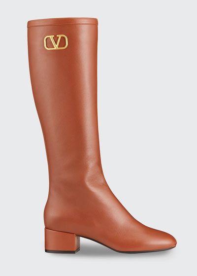 VLOGO Napa Leather Knee Boots
