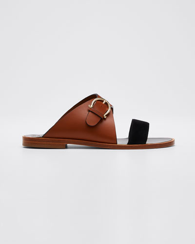 Cassie Suede and Leather Sandals