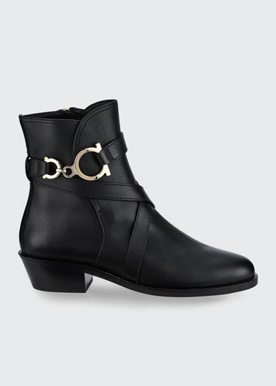Shadi Gancini Leather Booties