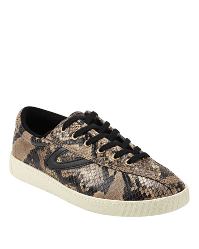 Nylite 6 Plus Snake-Print Basket Sneakers