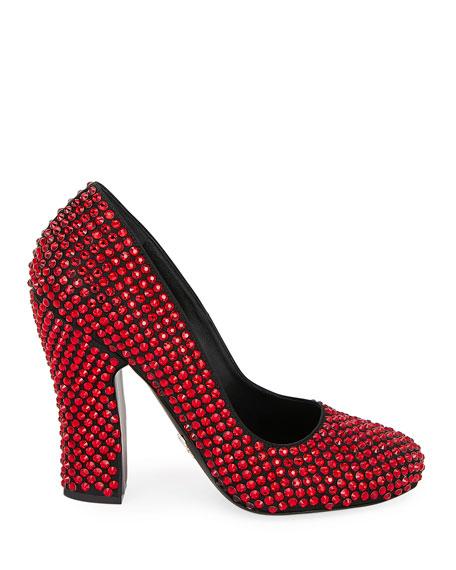 Crystal Ruby Slipper Pumps