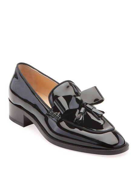 Carmela Patent Red Sole Loafers