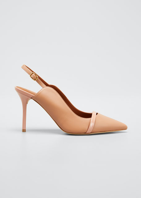 Marion 85mm Leather Slingback Pumps