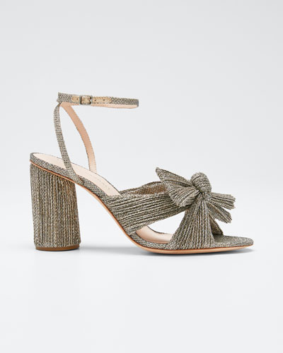 Camellia Knotted Ankle-Strap Sandals
