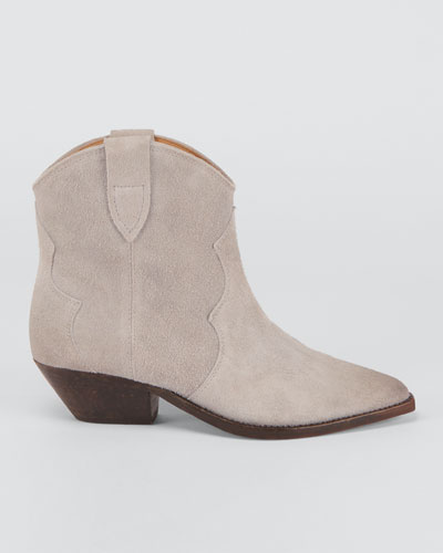 Dewina Suede Pull-On Booties