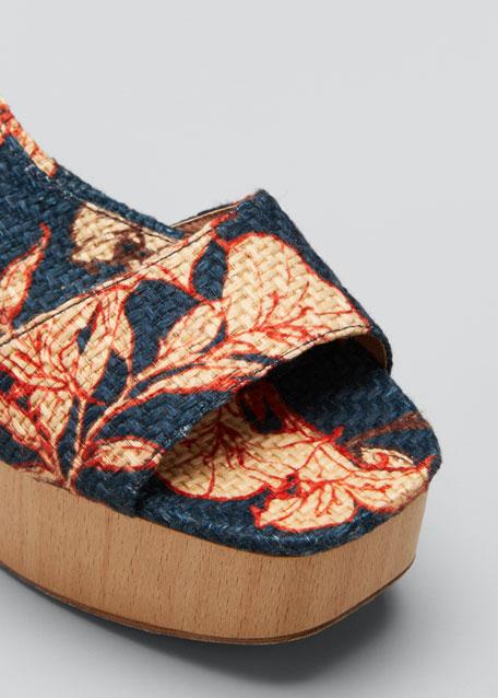Patton Floral Platform Sandals