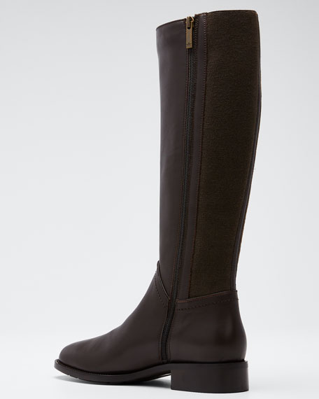 Nia Leather/Cashmere Knee Boots