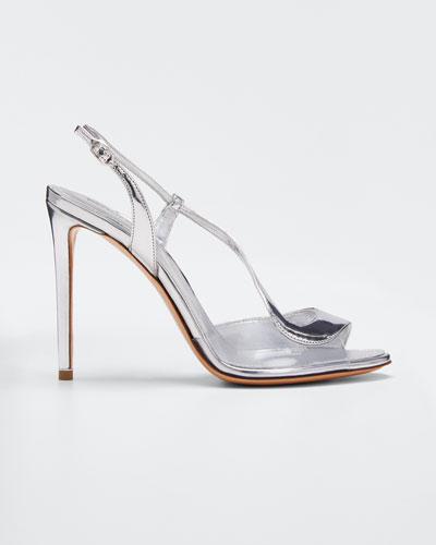 Metallic Strappy High Sandals