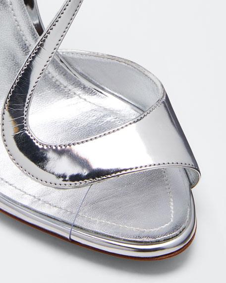 Metallic Strappy High Sandals