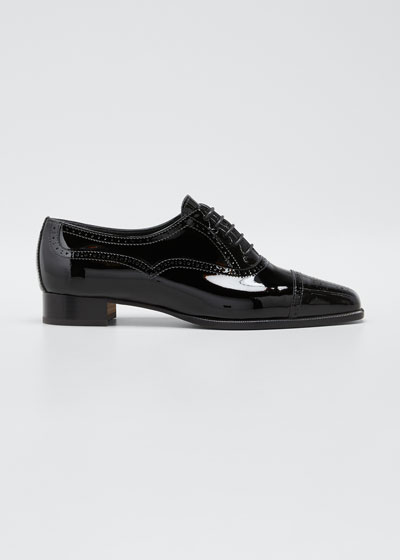 Bath Patent Leather Tuxedo Loafers