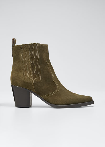Suede Western 70mm Booties