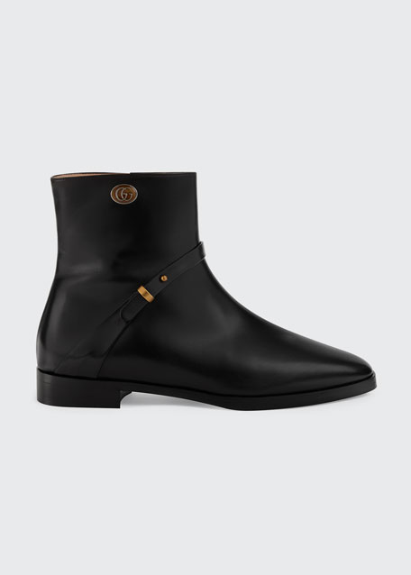 Rosie 15mm Leather Booties by Gucci