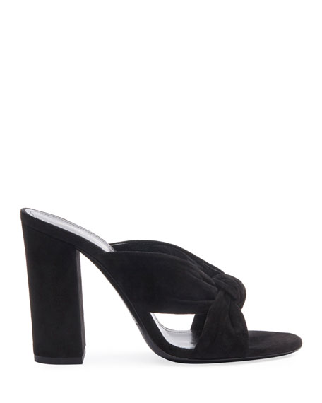 Loulou 100mm Suede Mule Sandals
