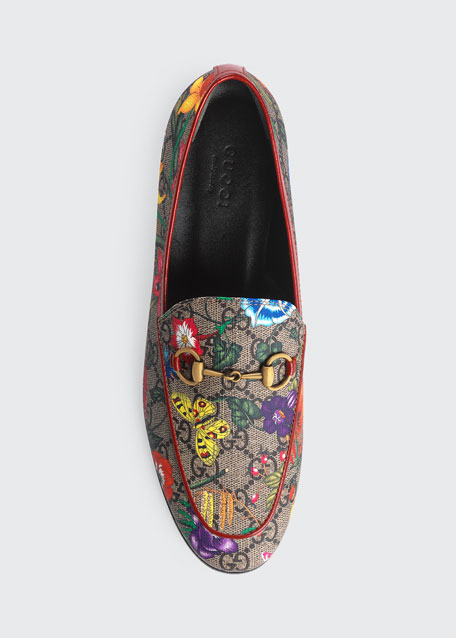 Jordaan Flat Floral Canvas Loafers