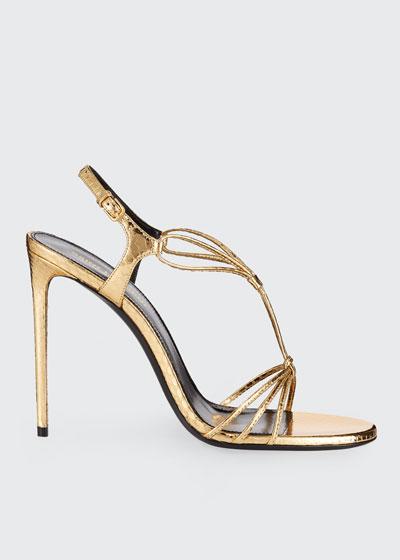 Robin Metallic Snakeskin Sandals